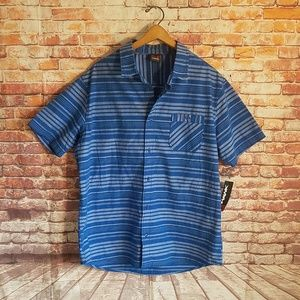 Nwt Tony hawk striped button up polo shirt